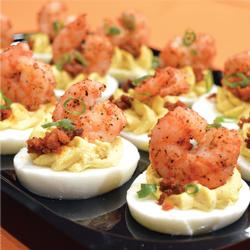 BAYOU DEVILED EGGS PLATTER (12)