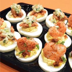 HALF & HALF - BBQ CHICKEN & BAYOU DEVILED EGGS PLATTER