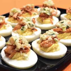 BBQ CHICKEN DEVILED EGGS PLATTER (12)