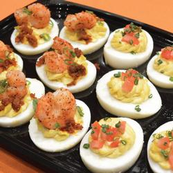 HALF & HALF - TRADITIONAL & BAYOU DEVILED EGGS PLATTER