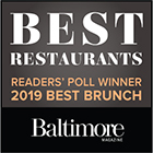 Best of Baltimore Winner 2019 Best Brunch