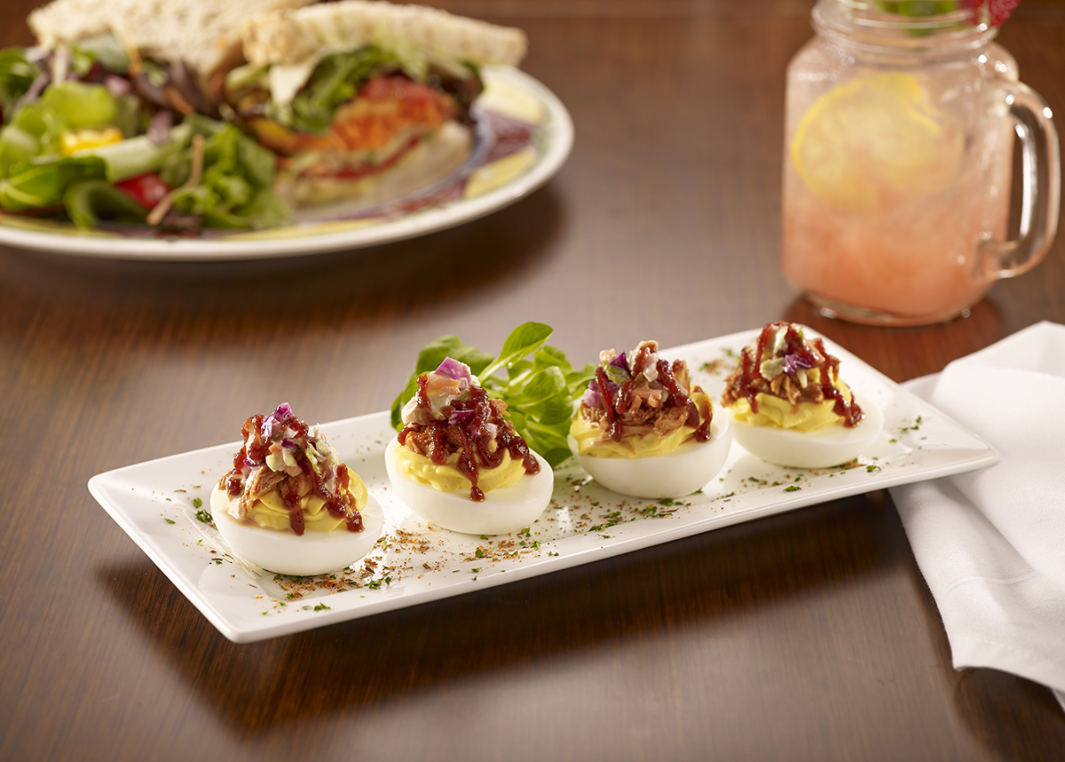 Miss Shirley's Signature Dishes - BBQ Deviled Eggs