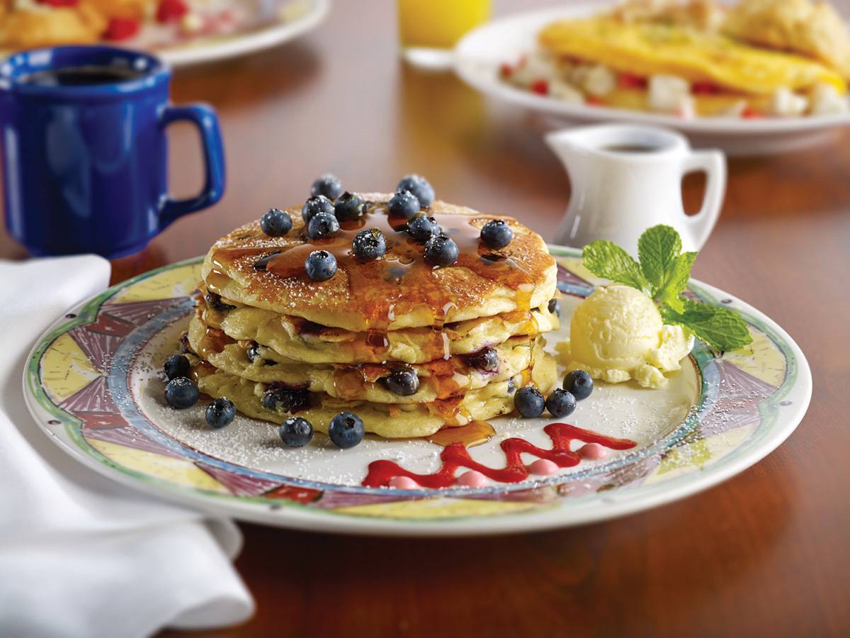 Miss Shirley's Signature Dishes - Blueberry Pancakes