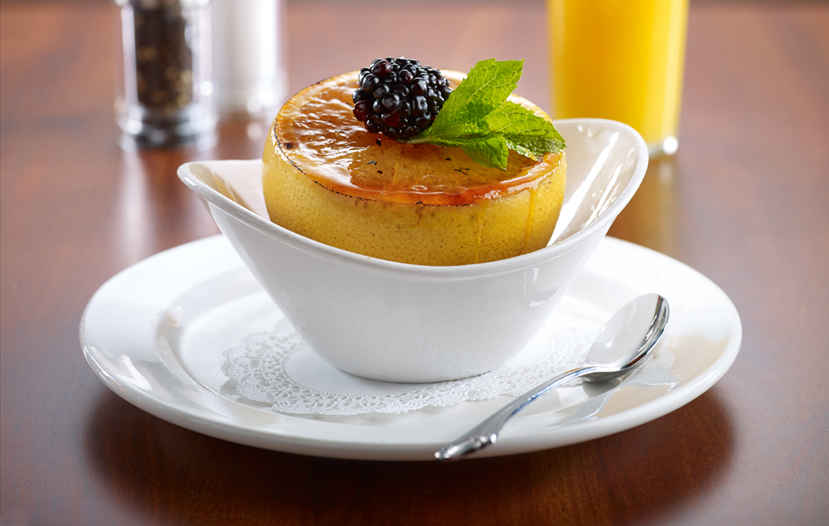 Miss Shirley's Signature Dishes - Broiled Grapefruit Brûlée