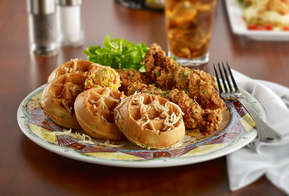 Miss Shirley's Signature Dishes - Benne Seed Chicken 'N Waffles