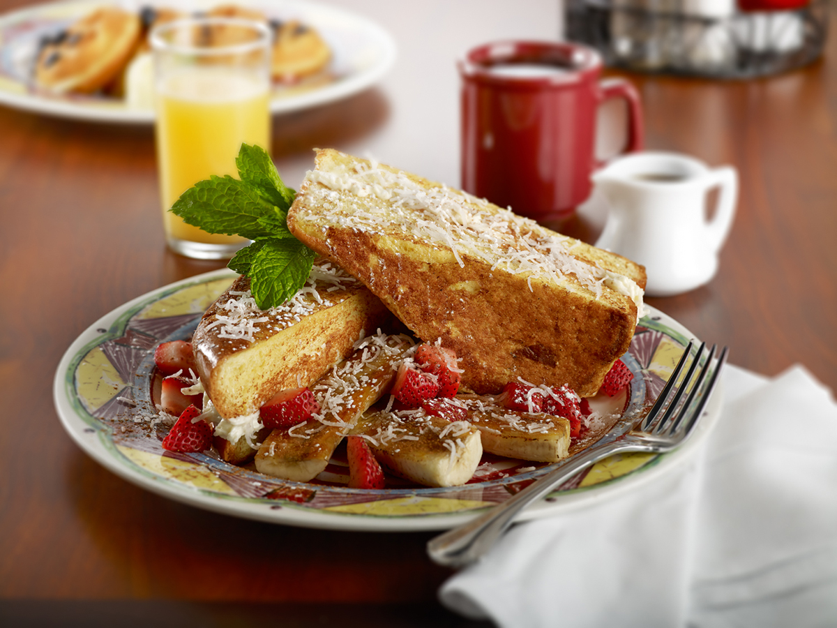 Miss Shirley's Signature Dishes - Coconut Cream Stuffed French Toast