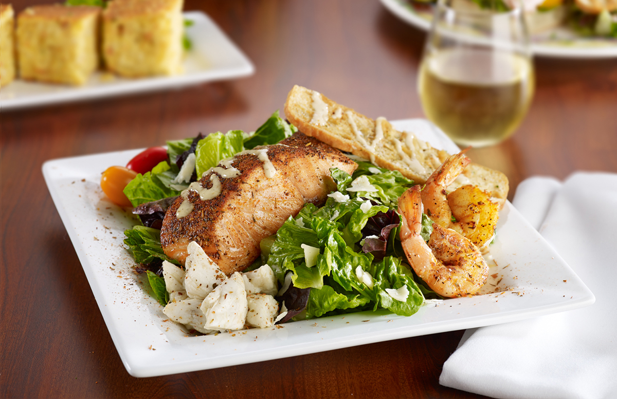 Soups, Salads & Sandwiches - Seafood Caesar