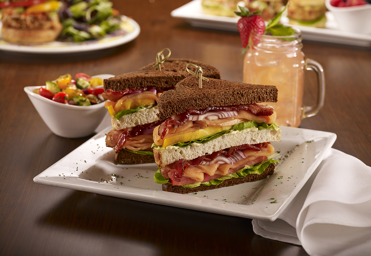 Soups, Salads & Sandwiches - Smoked Salmon Club