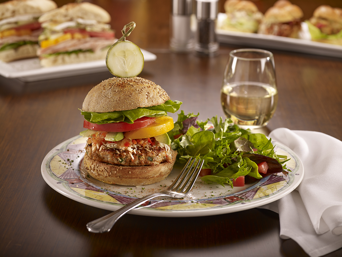 Soups, Salads & Sandwiches - Poppy's Blackened Turkey Burger