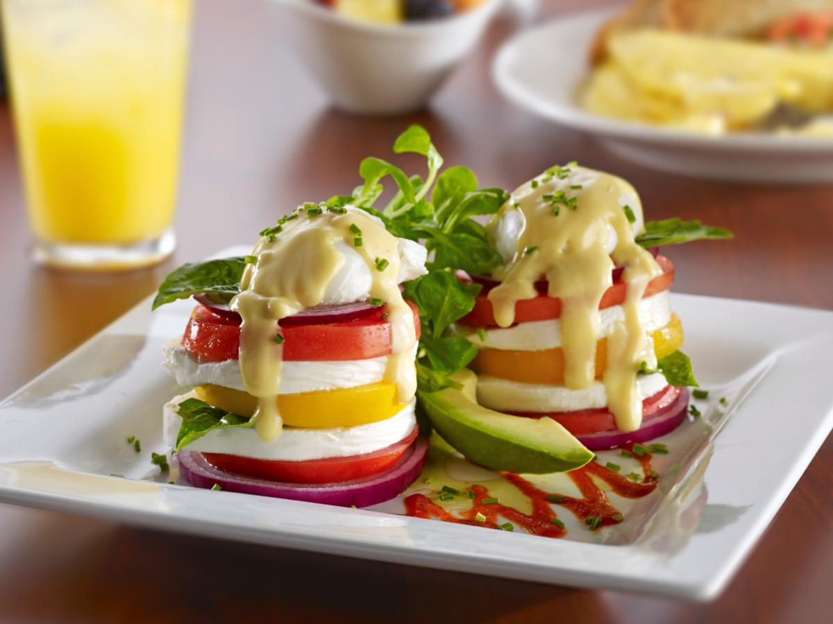 Miss Shirley's Signature Dishes - Veggie Egg Tower